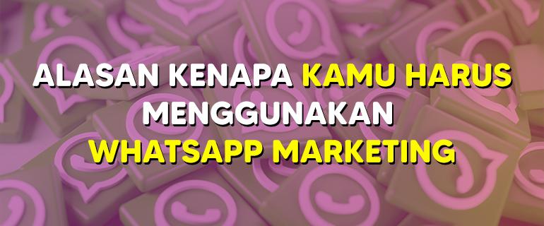 Alasan Kenapa Kamu Harus Menggunakan WhatsApp Marketing