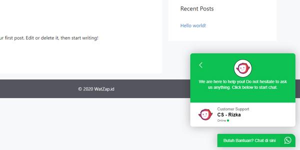 Menjadikan WhatsApp Sebagai Sarana Chat di Website Pembelian